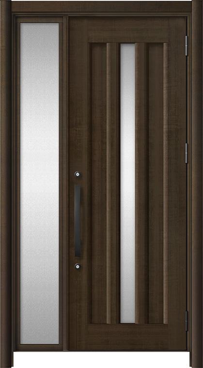 リシェントⅢ アルミ仕様 C12N型 片袖タイプ 柿渋調(木目調)